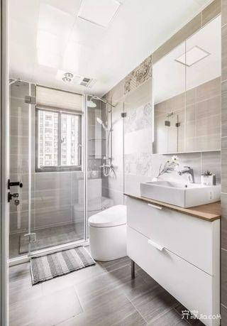 125平宜家风格三居室装修卫浴间欣赏图