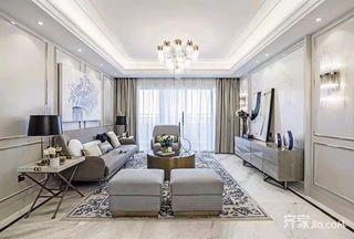 148平米简约三居室装修客厅效果图