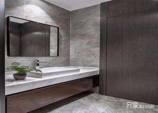 148平米简约三居室装修卫生间装潢图