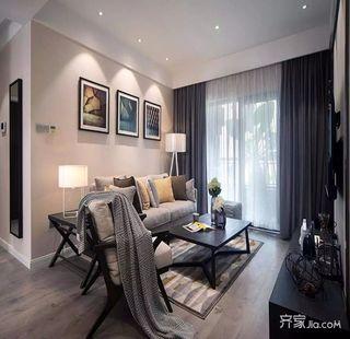 200平米简约风格装修客厅布置图