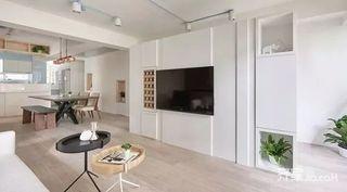 130㎡北欧风格三居室装修电视背景墙欣赏图
