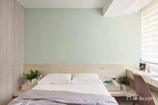 130㎡北欧风格三居室装修卧室实景图