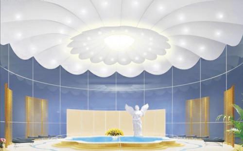 软膜天花板材料类型软膜天空家居壁纸装饰效果图花卉材料的优势