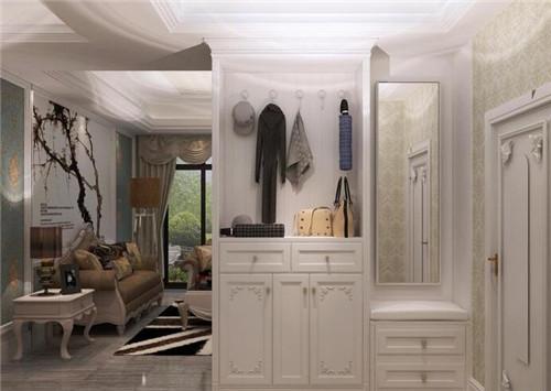 进门玄关装修效果图,客厅进门玄关设计技巧
