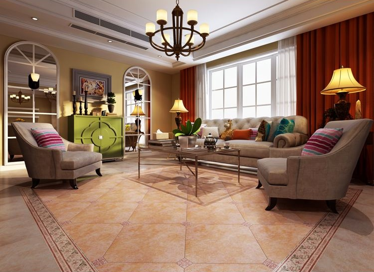 ▲仿古砖装修效果图-瓷砖规格有哪些 常见瓷砖规格