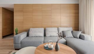 现代日式原木风装修效果图