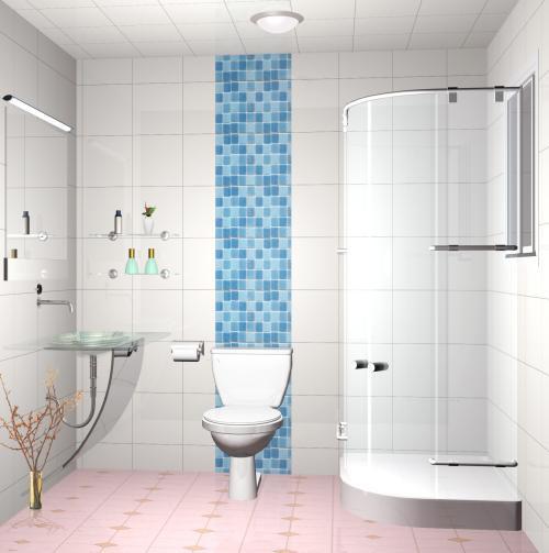 小衛生浴室柜圖像間如何裝飾小浴室裝飾效果圖