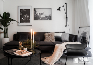 北欧风格两居装修 黑白灰调
