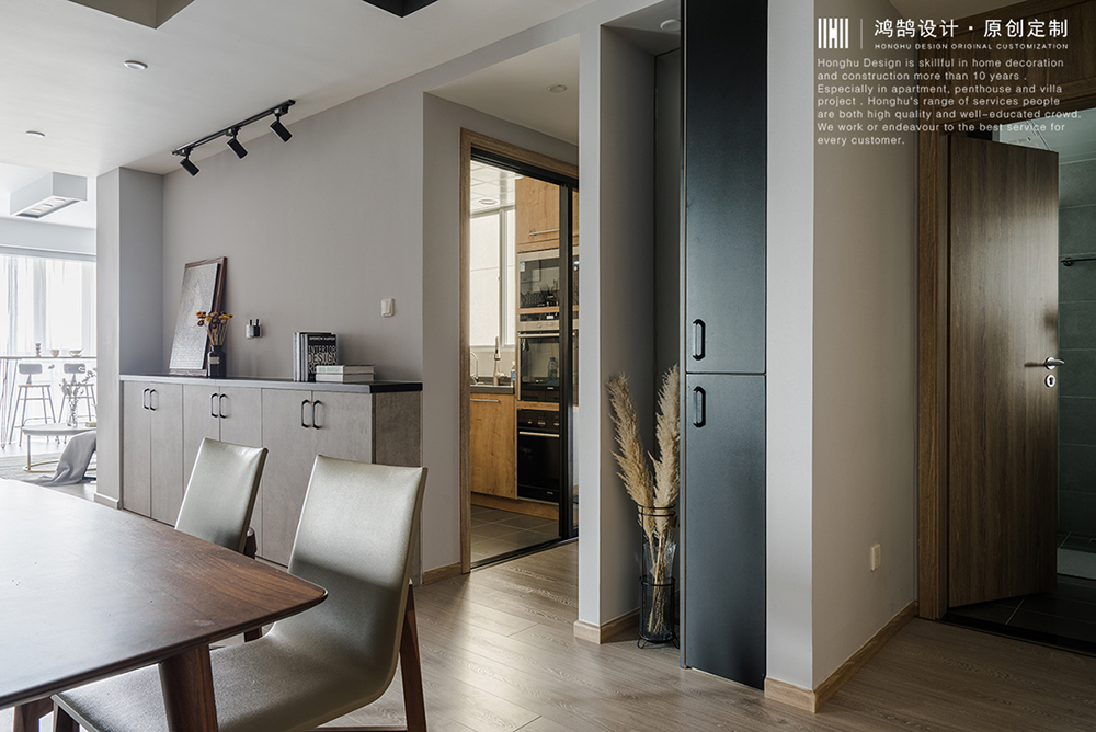 134㎡北欧混搭三居装修餐边柜设计