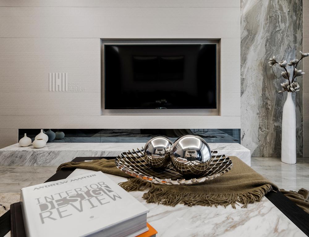 港式风格两居装修电视背景墙图片