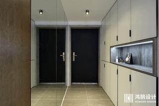 110平北欧工业风装修玄关柜图片