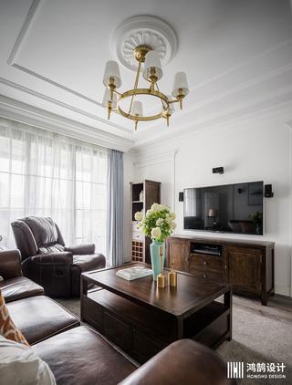 110平美式风格三居室装修吊顶设计