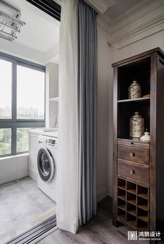 110平美式风格三居室装修阳台一角