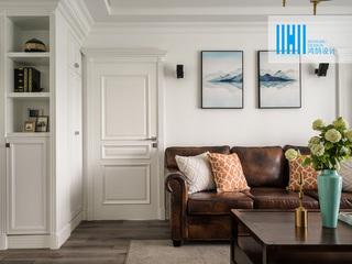 110平美式风格三居室装修图