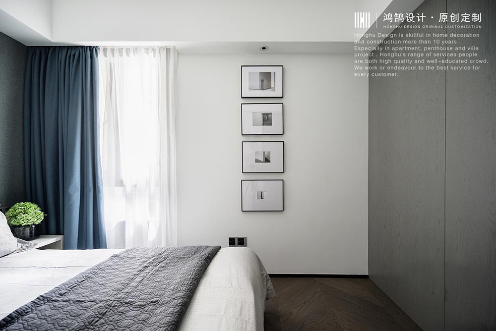 三居室现代风格家卧室墙面布置