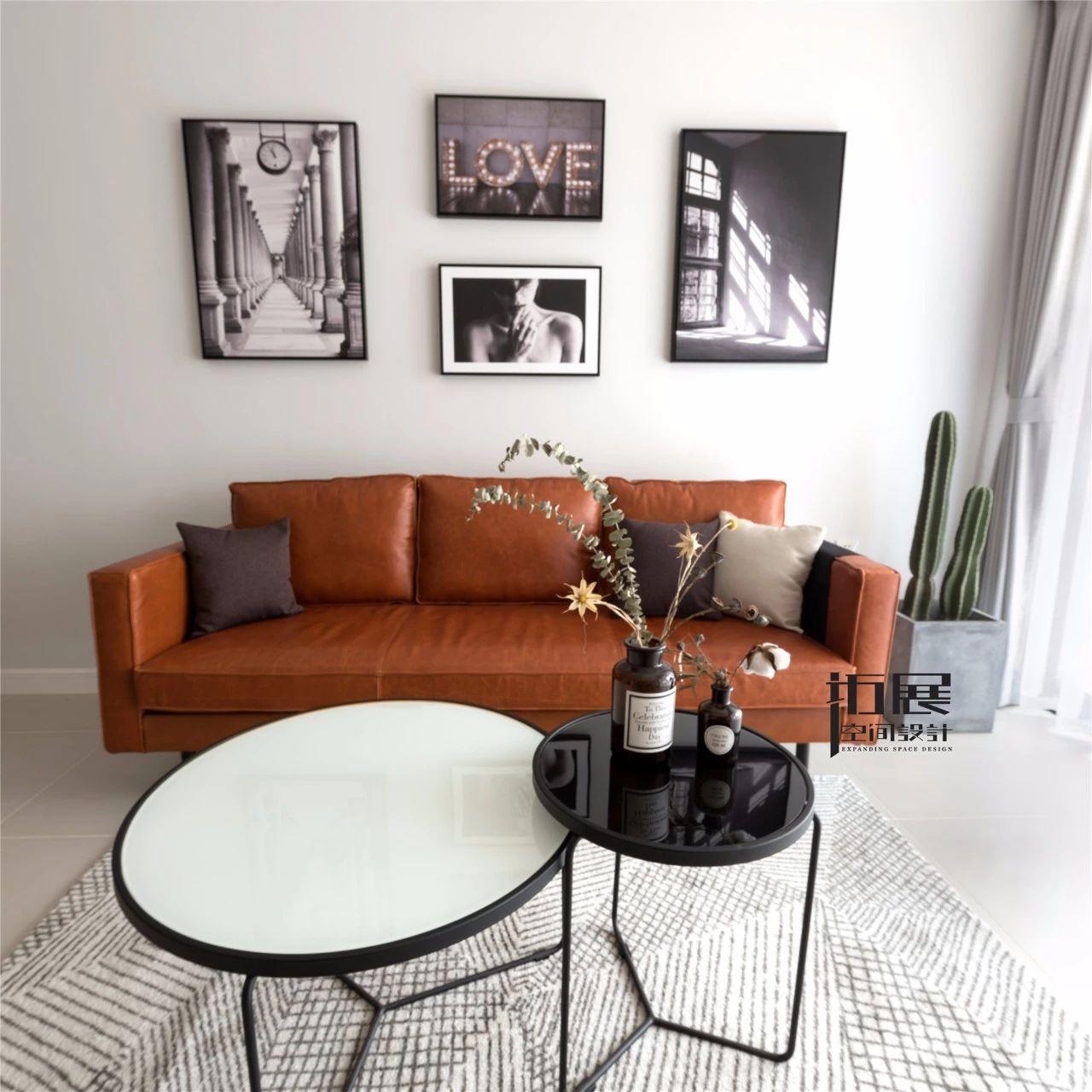 小户型北欧风格装修沙发背景墙设计效果图