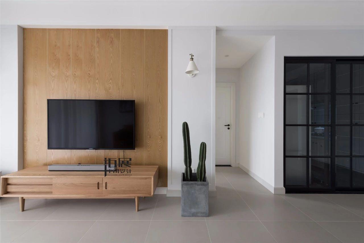 小户型北欧风格装修电视柜设计图