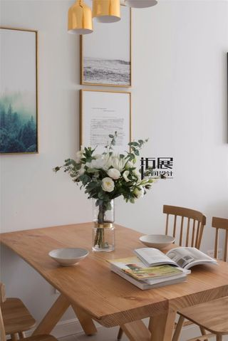 小户型北欧风格装修餐桌椅图片