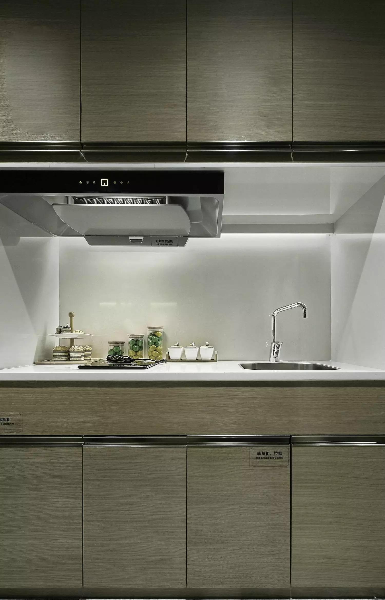 小户型北欧风公寓装修厨房设计图