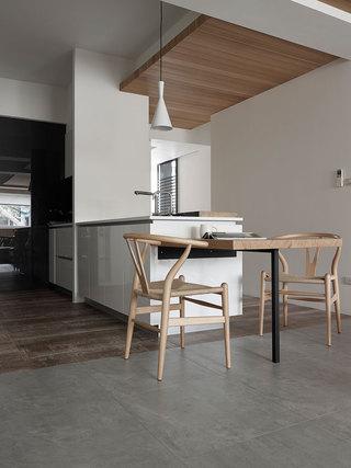 112平简约风格家厨餐厅设计图