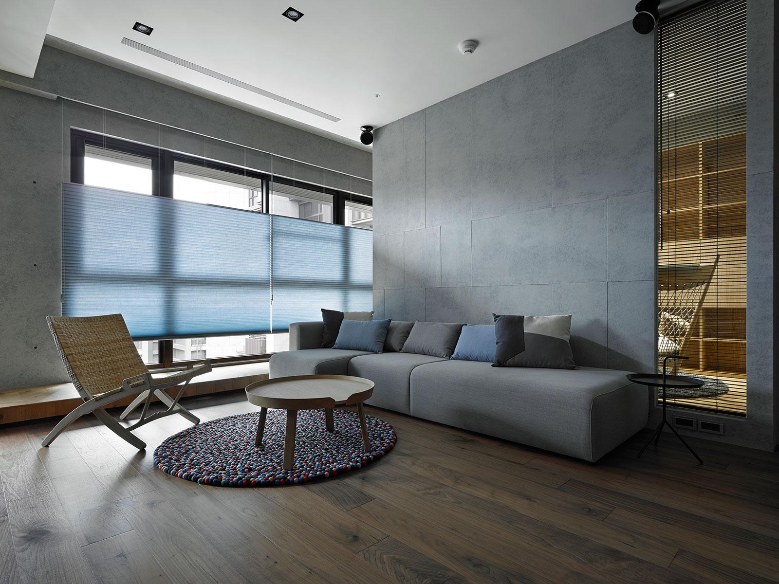 158平现代简约三居装修沙发背景墙效果图