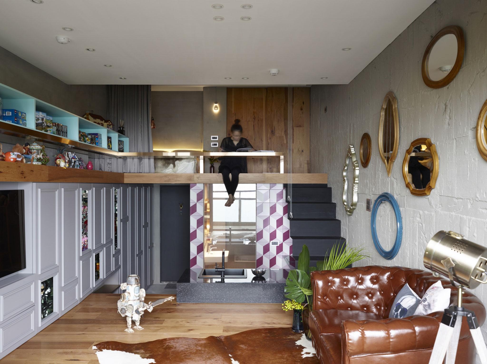 小户型Loft混搭风格装修楼梯效果图