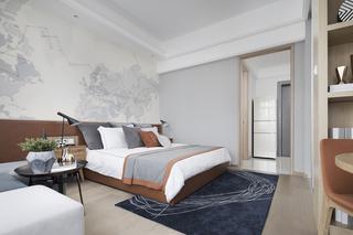 北欧风公寓样板间装修卧室背景墙效果图
