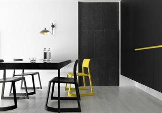 黑白极简现代风装修移门设计效果图
