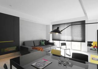 黑白极简现代风客厅装修效果图