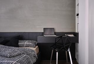122平现代时尚简约风装修卧室工作区