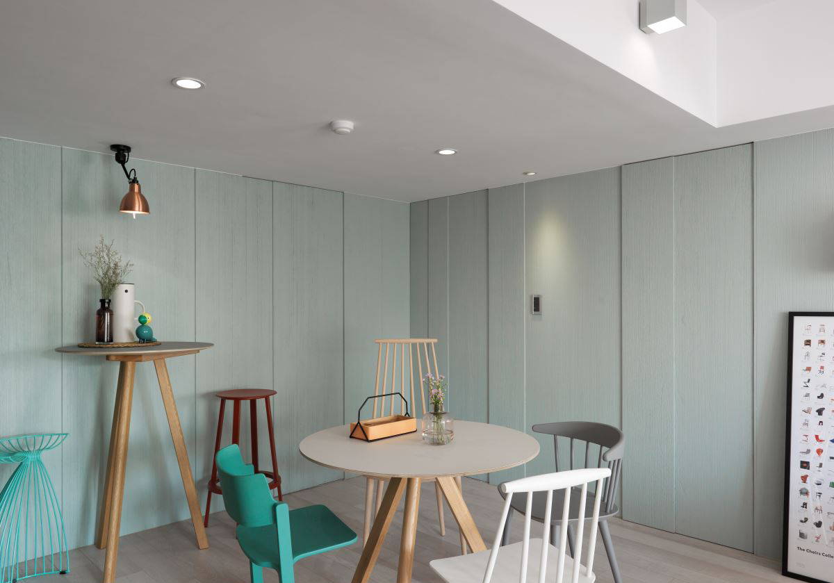 清新北欧风二居餐厅装修设计效果图