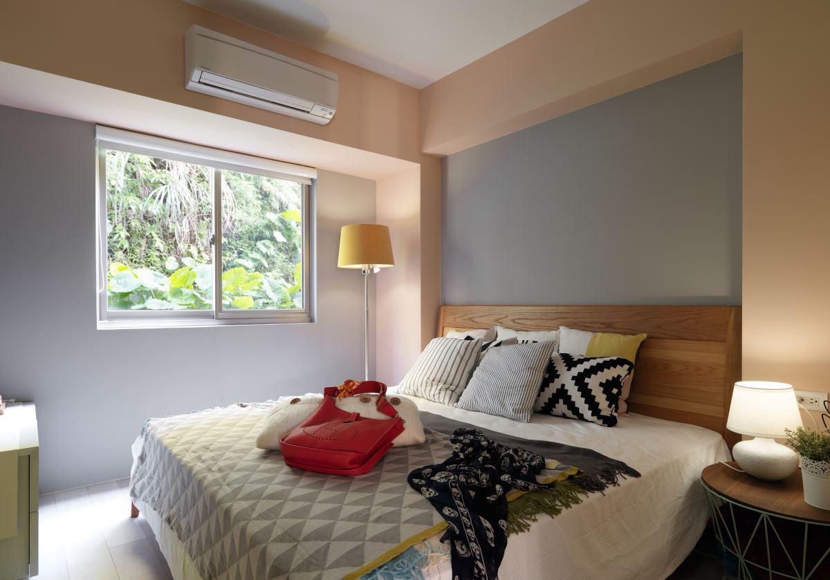 清新北欧风二居卧室装修设计效果图