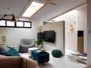 112平北欧风公寓装修电视背景墙隔断设计图