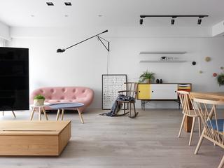 115㎡北欧风格三居装修休闲椅设计图