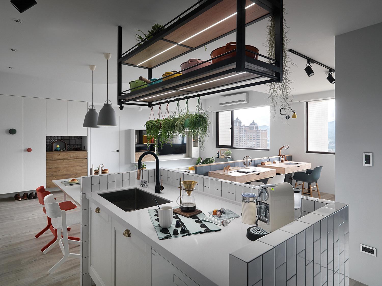 北欧风三居装修厨房操作台设计图