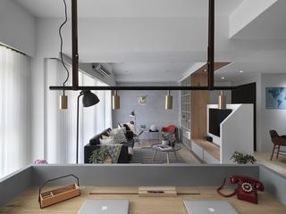 小户型个性北欧风装修书房吊灯设计