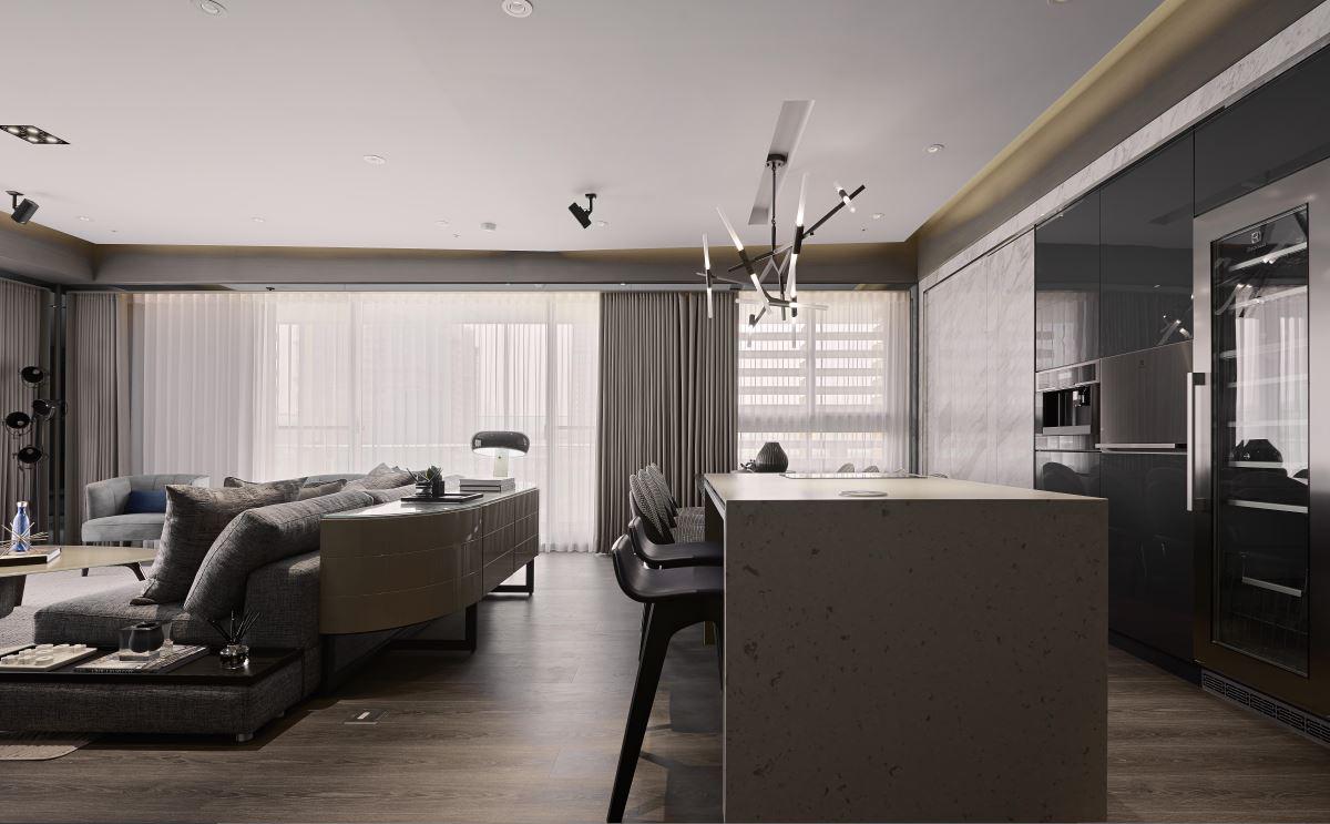 大户型现代风格家吧台设计图