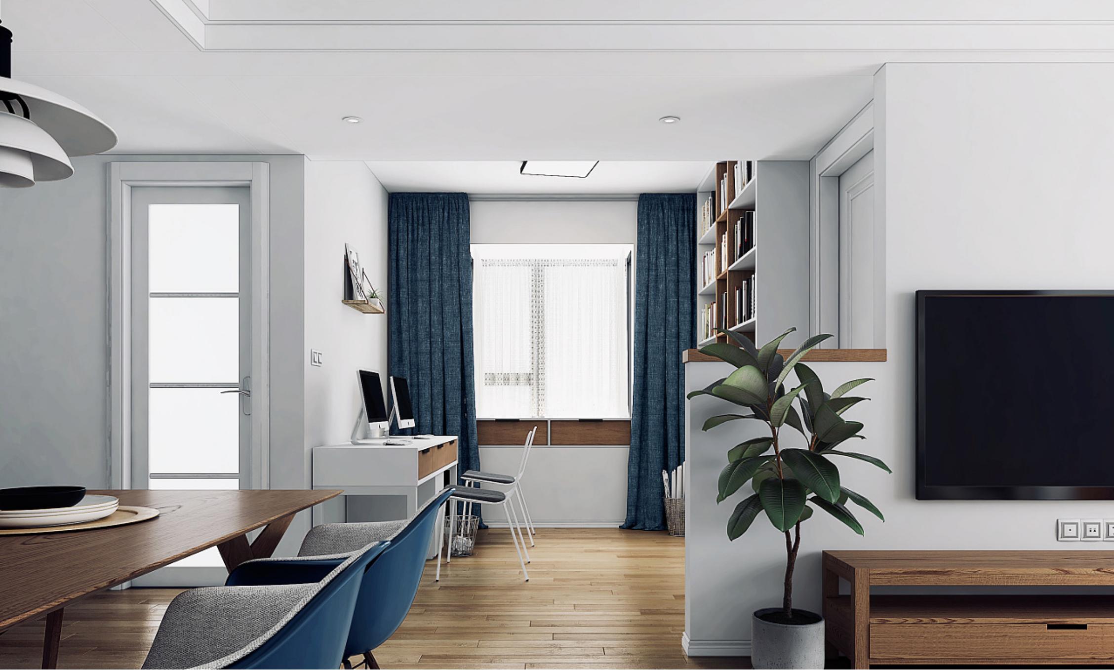 二居室北欧风格书房装修设计效果图
