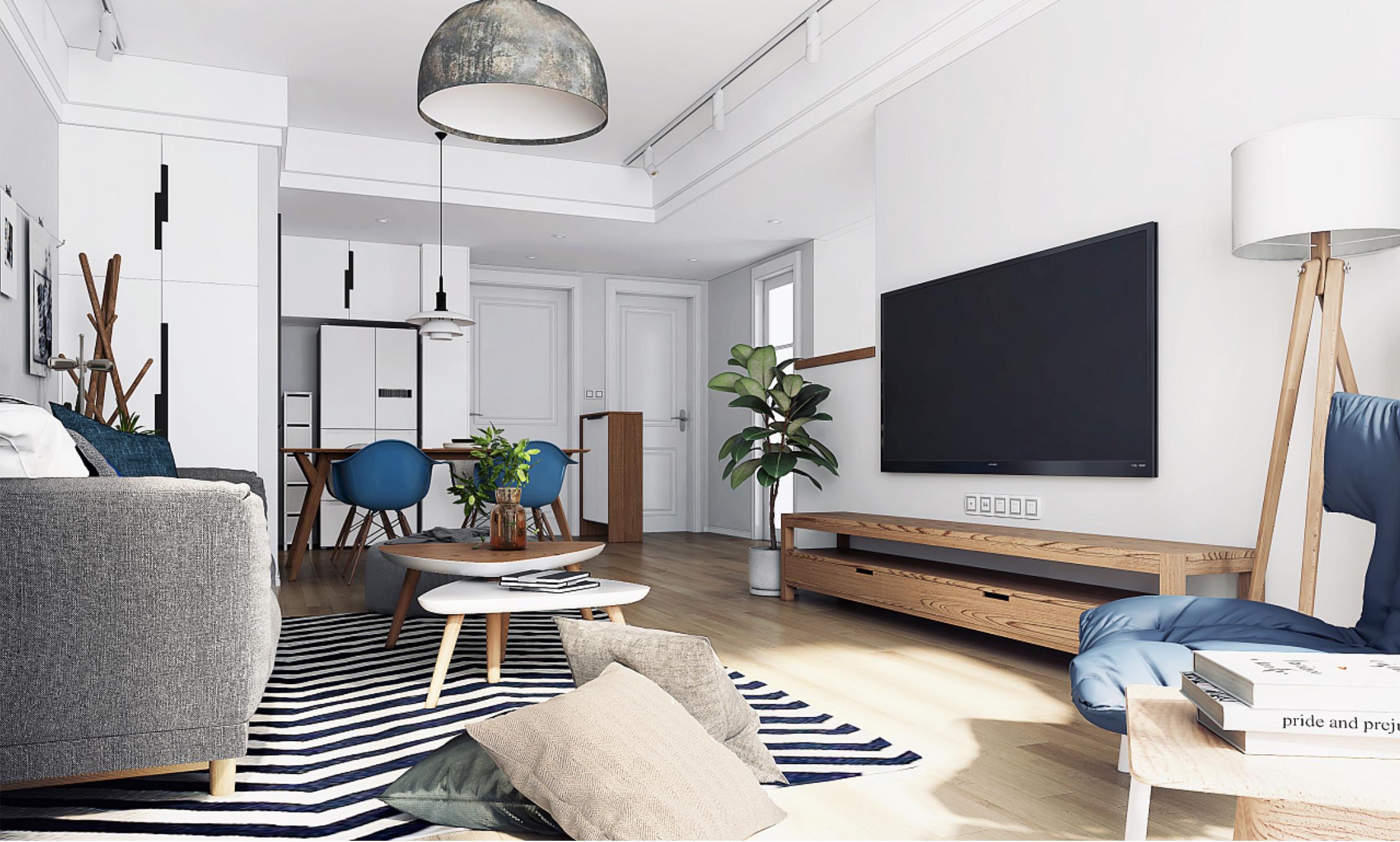 二居室北欧风格客厅装修设计效果图