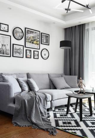 85平二居北欧风格装修沙发图片