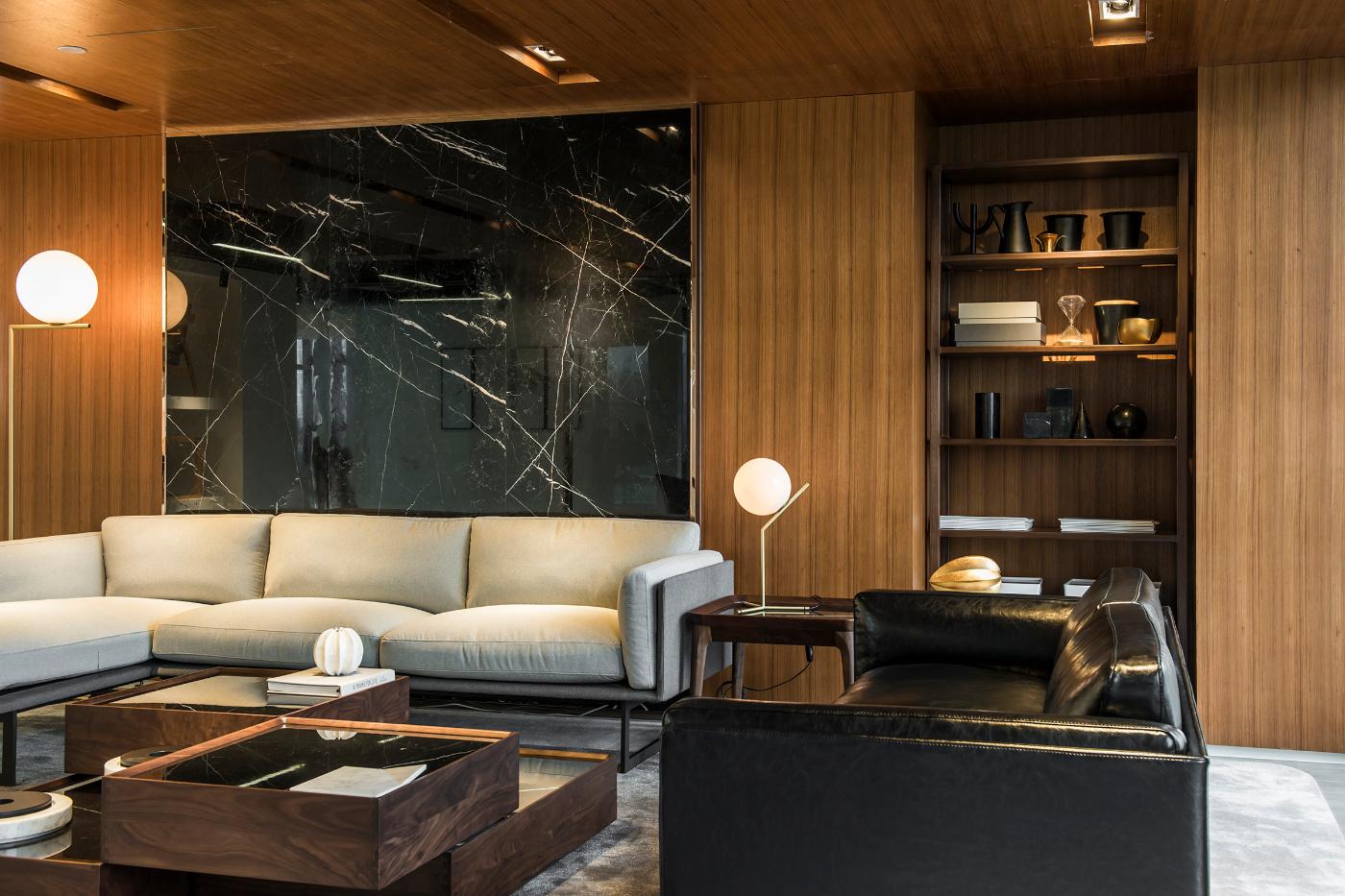 美璟展厅空间装修沙发背景墙效果图