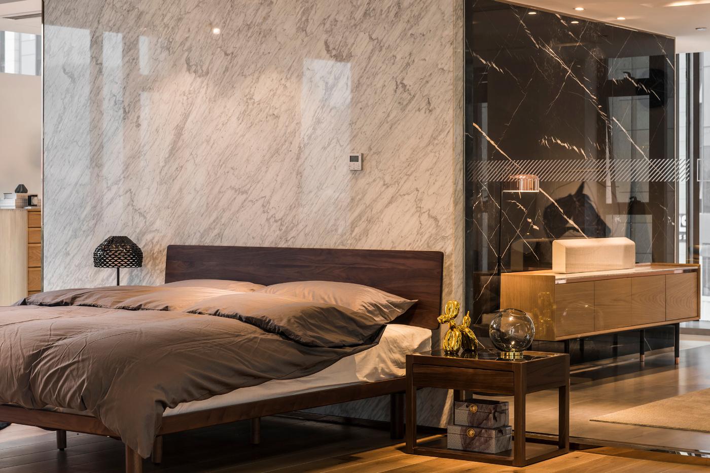 美璟展厅空间装修卧室背景墙效果图