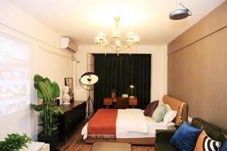 小户型复古现代风格卧室装修效果图