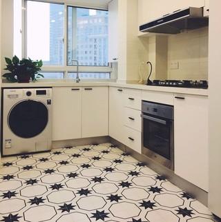 现代简约风三居室装修厨房构造图