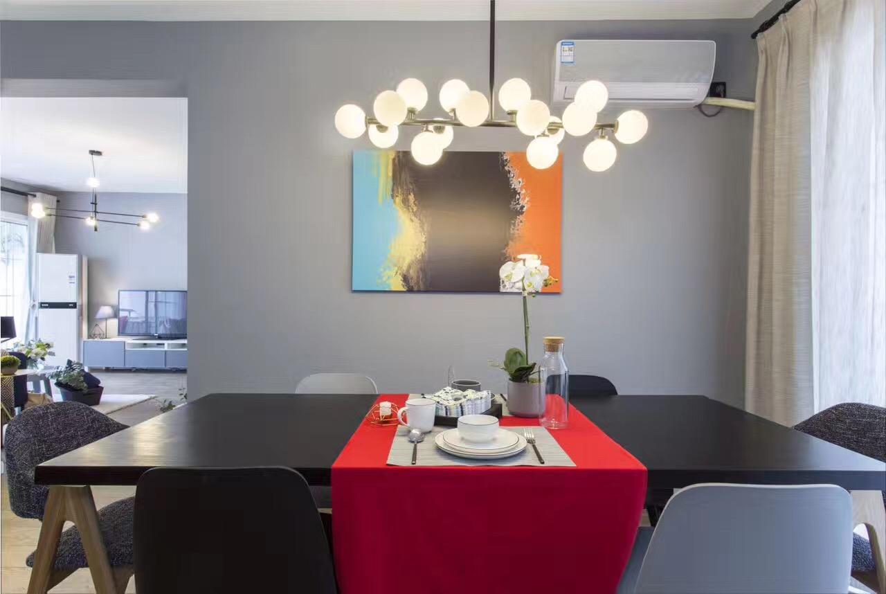 135平三居室装修餐厅设计效果图