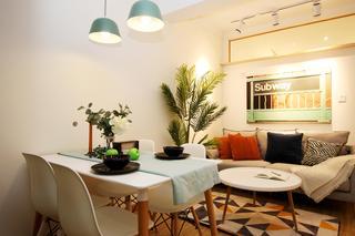 北欧简约三居室公寓装修设计图