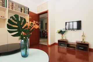 85㎡现代风格二居室装修电视背景墙图片