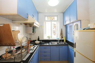 40平自然简约风公寓装修厨房布局图