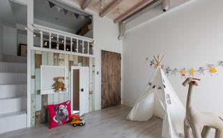 140平Loft工业风儿童房装修效果图