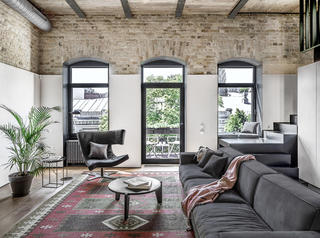 Loft工业风别墅装修拱形门窗设计图